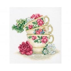 Гоблен RTO M622 Чаши чай с розови листа