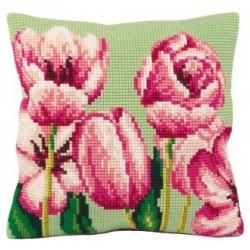 Гоблен възглавница 5070 Розови лалета