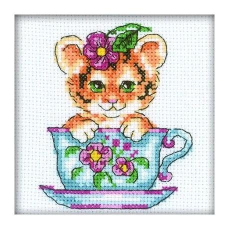 Гоблен RTO H196 Мако котенце с цветя