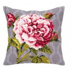 Гоблен възглавница 5342 Розова роза